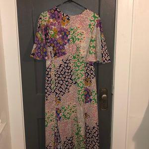TopShop Midi Floral Dress
